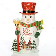 Cjristopher Radko Let It Snow Cookie Jar