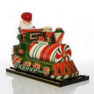 Christopher Radko Peppermint Express Nutcracker