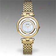 CitizenS tiletto Gold Plated Diamond Watch