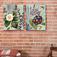 Classic Garden Set Of 2 16in X 20in Canvas Prints