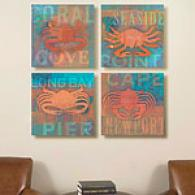 Coastal Catch Set Of 4 16in X 16in Canvas Prints