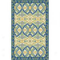 Colorfields Monaco Blue Hand Hooked Wool Rug