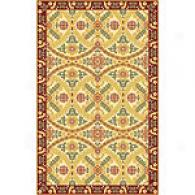 Colorfields Monaco Red Hand Hooked Wool Rug