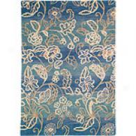 Company C Bali Omvre Lagoon Lead Tufted Wool Rug