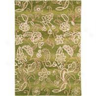 Company C Bali Ombre Palm Lead Tufted Wool Ru