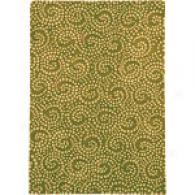 Company C Carnaby Swirl Cilantro Tufted Wool Rug
