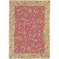 Company C Meandering Vine Faience Hand Hooked Rug