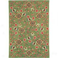 Company C Swedish Meadow Green Wool Rug