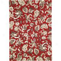 Company C Wentworth Floral Red Tufted Rug