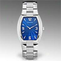 Concord Mens La Scala Stainless Steel Blue Watch