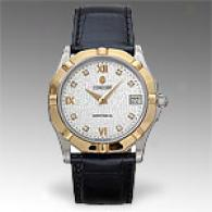 Concord Saratoga Sl Mens Diamond & 18k Gold Watch