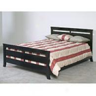 Contempor Black Queen Bed Frame