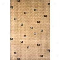 Contemporary Beige Geometric Hand Knotted Wool Rug