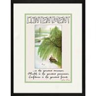 Contenrment 17in X 23in Framed Print