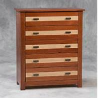 Conway Honey Pine & Oak Finisged 5 Drawer Chest