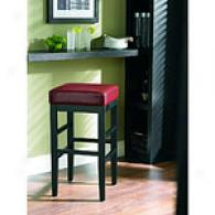 Cooper Red Leather Stool