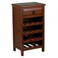Copenhagen Wooden 1-drawer Wine Cabinet