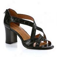 Corso Como Davis Strappy Croc Embossed Sandal