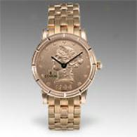 Corum Womens 18k Golden Gold Coin Watch