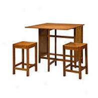 Co8nter Set With Drop Leaf Table