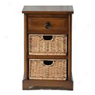 Country Brown Farmhouse Basket Stand