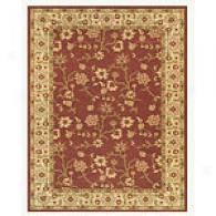 Cranberry Floral Vine Traditional Area Rug