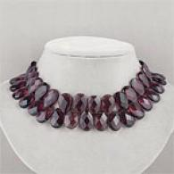 Cranberry Quartz Dramatic Cluster Necklace