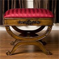 Crimson Wood Ottoman