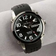 Croton Mens Black Dial Face Silex Watch