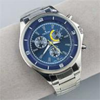 Croton Mens Blue Dial Quartz Stainless Steel Watch