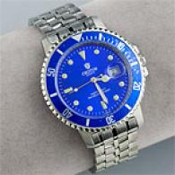 Croton Mens Blue Face Tachymeter Watch