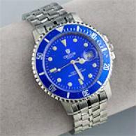 Croton Mens Blue Face Tachymeter Watch