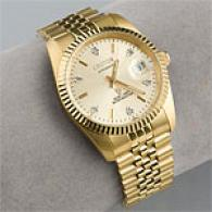 Croton Mens Coin Edged Gold Tone Dress Watch