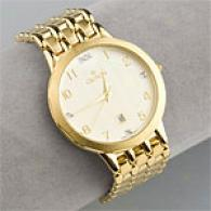 Croton Mens Gold Tone Quartz Watch