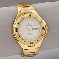 Croton Men's Gold-tone Steel Aquamatic Watch