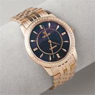 Croton Men's Rose Gold & Diamond Watch