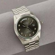 Croton Men's Silverrone Diamond Watch