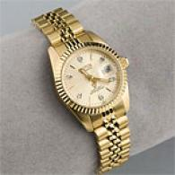 Croton Womens Gold Tone Crystal Accent Watch