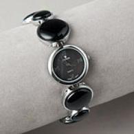 Croton Womens Onyx Bracelet Watch