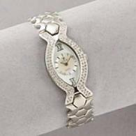 Croton Womens Swarovski & Mother Of Pearl Watch