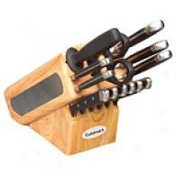 Cuisinart 15pc Natural Woood Block Knife Set