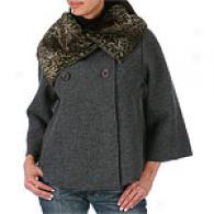 Cullen Cashmere 3/4 Sleeve Boied Wool Jacket