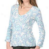 Cullen Cashmere Printed V-neck Sweater