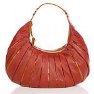 Cynthia Rowley Tilda Leather Top Zip Hobo
