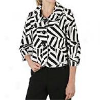 Cynthia Steffe Printed Cotton Jacket