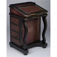 Dark Brown Davenpoort Desk Style Jewelry Cabinet