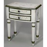 Decorative Painted Floral Lamp Table
