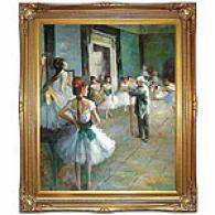 Degas Dance Studio At The Opera Oil Painting