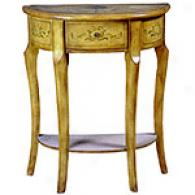 Demi Lune Hand-painted Bracket Table