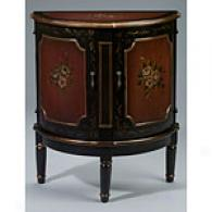 Demilune Painted Wood Cabinet